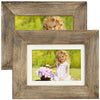 Rustic Barnwood  Picture Frame Set:  Fits 5x7 or 4x6 Photos (Pack of 2)