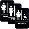 Restroom Sign with Braille (ADA Compliant), 6x9,  Women's Handicap - Pack of 3
