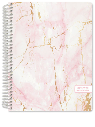 HARDCOVER Academic Year 2020-2021 Planner (Pink Marble)