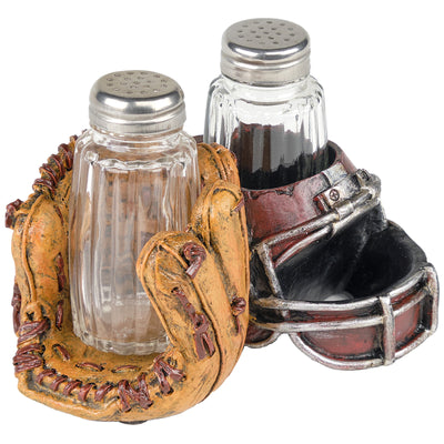 Baseball & Football Sports Salt and Pepper Shaker Set