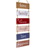 Large Hanging Wall Sign: Wooden Decor Hanging Wood Wall Decoration - 11.75 x 32