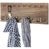 Rustic, Shabby Chic Wall Mounted Hanging Entryway Coatrack Organizer. 24x8
