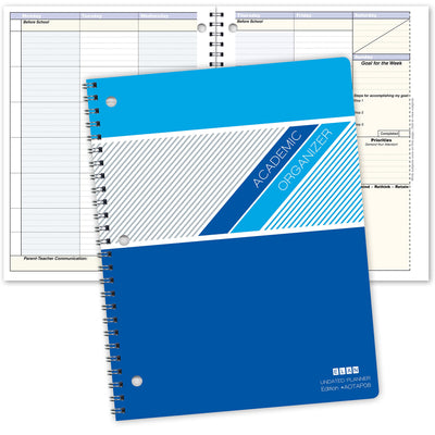 "Student Academic Planner 8.5""x11"" Weekly View (Undated)"