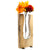 "Clear Glass and Wood Vase - Rustic Flower Vase (Tall - 13.75"" x 6.75"")"