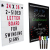 "24""x36"" Replacement Changable Letter Message Board for Swinging Signs."