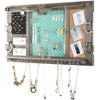 "Large Rustic Wall Mounted Shabby Chic Jewelry Organizer: 28""x16"""