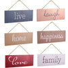 Hanging Home Decor Sign with Sawtooth Hook and Jute Hanging Rope