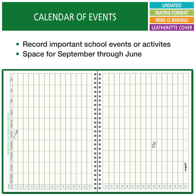 "Combination Plan and Record Book: One efficient 8-1/2"" x 11"" book for lesson plans and grades combines W101 and R1010 (PR7-10)"
