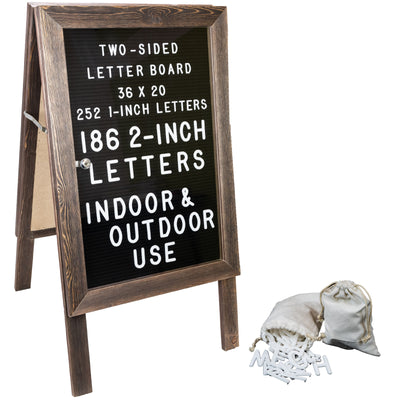 Felt Letter Board A-Frame Sidewalk Sign 36x20  - Brown (Pack of 5)