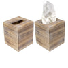 Rustic Barnwood Tissue Box Cover: Tissue Cube Box (Pack of 2)
