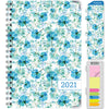"HARDCOVER 2021 Planner - BLUE FLOWERS (Nov 2020 - Dec 2021)(Medium 5.5"" x 8"")"