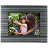 Decorative Picture Frame with Shimmering Silver Border