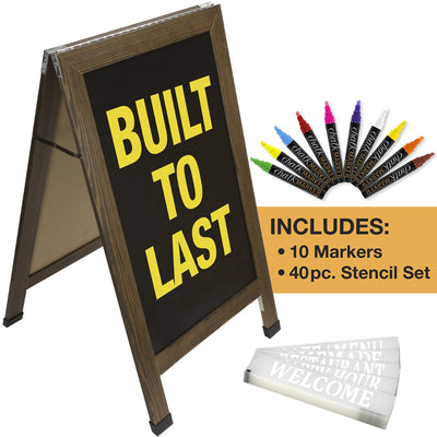 "40"" x 20"" REINFORCED A-Frame Chalkboard - White (Pack of 5)"
