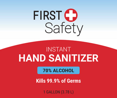 Case of 2 First Safety 1 gallon Hand Sanitizer Gel with Pump