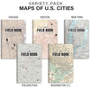 "Field Notebook - Antique Map Patterns - Lined Memo Book (3.5""x5.5"")"