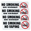 No Smoking No Vaping Sign: Indoor Outdoor No Smoking Warning. 9x3, Pack of 4