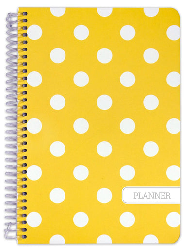 "Fashion UNDATED Planner Set - 5.5"" x 8"" (Yellow Dots)"