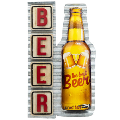 "Vintage Metal Beer Signs Tin Retro Wall Wood Iron Plaque 8""x13.5"" Inches"