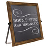 Rustic  Sign Wooden Frame with Adjustable Stand Reversible 11x11