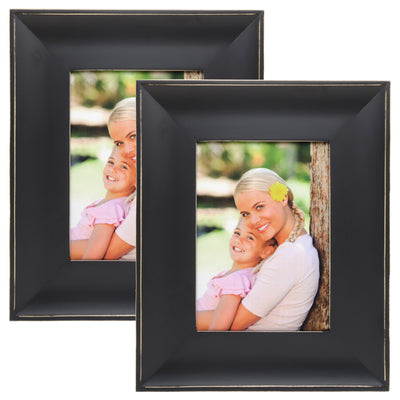 "Modern Rustic Wooden Frame: Holds 5""x7"" Photo Picture Frame (Pack of 2)"