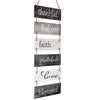 "Large Hanging Wall Sign: Rustic Wooden Decor (11.75"" x 32"")"