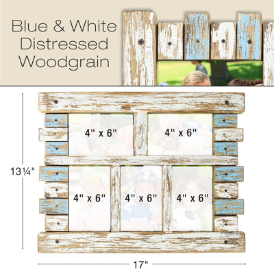 Rustic Distressed Wood Frame Ready to Hang, Shabby Chic, Farmhouse