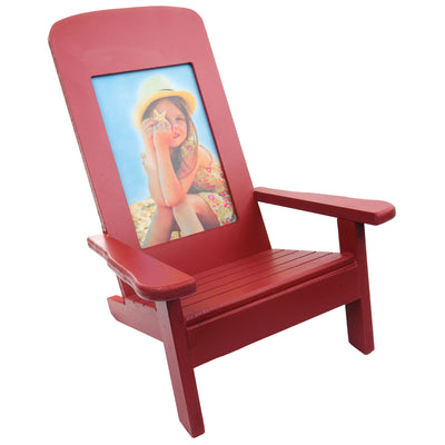 "Adirondack Chair w/ Photo Frame - Holds 4"" x 6"" Vertical Photo - Great for Table Top Display and Home Dcor"