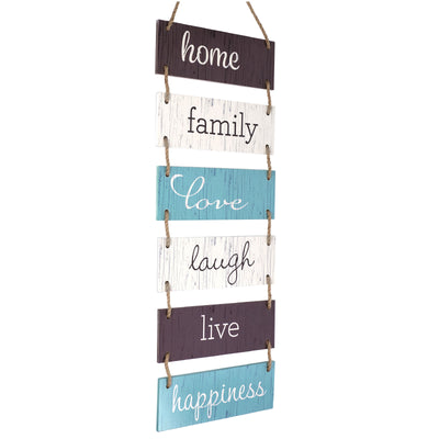 "Large Hanging Wall Sign: Rustic Wooden Decor Home Theme (11.75"" x 32"")"