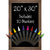 Excello Global Products Rustic Magnetic Wall Chalkboard Sign