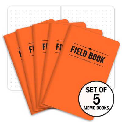 "Field Notebook - 3.5""x5.5"" - Orange - Pack of 5"
