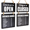 Business Hours Hanging Chalkboard (Double Sided Open/Closed)