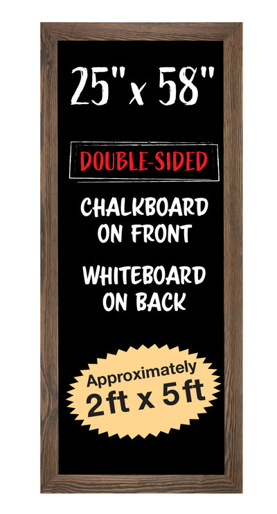 "Extra Large Gigantic Rustic Reversible Chalkboard / Dry Erase Sign: 58""x25"""