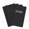 "Field Notebook - 5""x8"" - Black - Pack of 4"