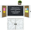 "12"" x 17"" Magnetic Chalkboard w/ Shelf and Key Hooks - White (Pack of 5)"