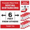 10 Extra Large Social Distance Posters (24x17 inch Double Sided)