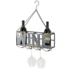 Hanging  or Wall Mounted Wine Rack: Wine Bottle Holder & Wine Glass Holder
