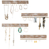 "Large Wall Mounted Jewelry Organizer. 17"" (Set of 4 )"