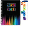 "Middle / High School Planner 2020-2021 (Matrix Style - 8.5""x11"" - Color Bars)"