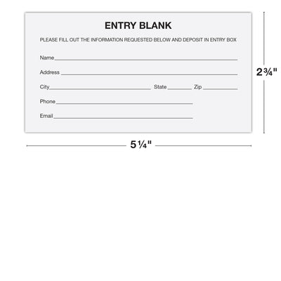 1500 Entry Forms - Includes 15 Blank Raffle Ticket Pads - Perfect for Contest Entry Forms, Raffles, Ballots, Giveaways, Leads, Drawings (White)