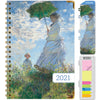 "HARDCOVER 2021 Planner - MONET UMBRELLA (Nov 2020 - Dec 2021)(Medium 5.5"" x 8"")"