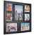 Rustic Distressed Wood Collage Picture Frames: Holds 7 Multiple Size Photos