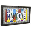 Vintage License Plate Mancave Sign