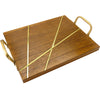 "13""x17"" Inlaid Wood Serving Tray"