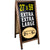 "Extra Large Gigantic Sandwich Board Sidewalk Chalkboard Sign: 59""x27"""