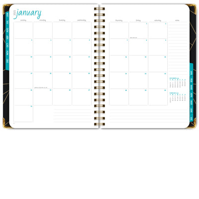 "HARDCOVER Academic Year 2020-2021 Planner 8.5""x11"" (Black Gold Triangles)"