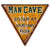 Man Cave Sign: Enter At Your Own Risk Novelty Sign Weathered Metal Vintage Style