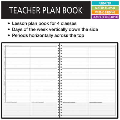 4 Period Teacher Lesson Plan; Days Vertically Down the Side (P4-97)