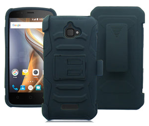COOLPAD CATALYST/3622A BLACK ECLIPSE COMBO HOLSTER CASE