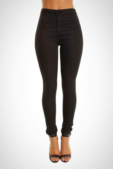 Wholesale Women's High Waisted Black Jean Jeggings