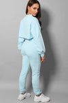 STATEMENT SWEATSHIRT TANK TOP JOGGERS 3 PIECE SKY BLUE LOUNGEWEAR SET